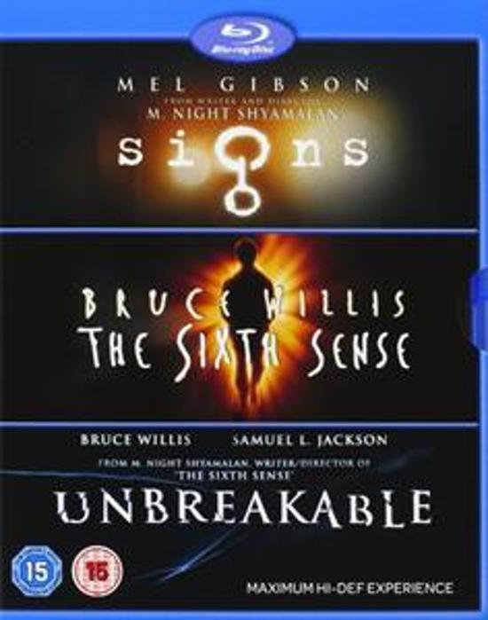 DVD cover van Signs - The Sixth Sense - Unbreakable - M Night Shyamalan Collection (Import met NL)