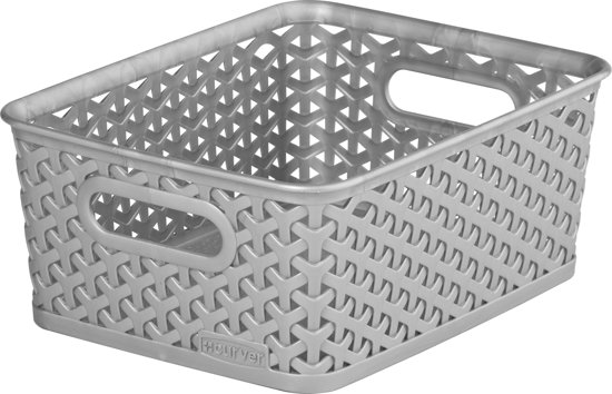 Curver Opbergmand - Rattan Style - Small - Zilver