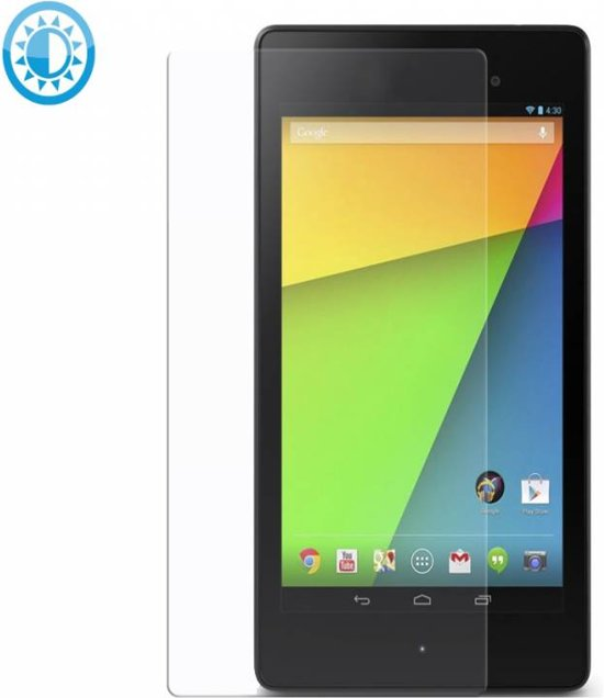 Anti-Glare Screen Protector Asus Nexus 7 (1e versie), Krasbestendige Beschermfolie, transparant , merk i12Cover in Holthe