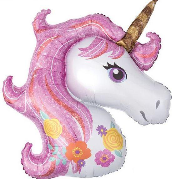 Helium ballon eenhoorn / unicorn roze Valentinaa