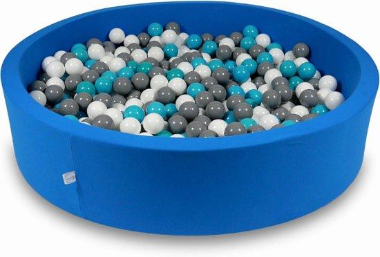 Ballenbak - 600 ballen - 130 x 30 cm - ballenbad - rond blauw