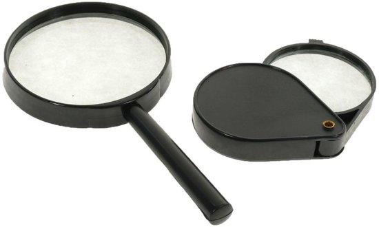 bol.com   2-Delige Vergrootglas Hand Loep Set Aa commerce -Lees Loep ...