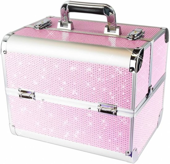 Hedendaags bol.com | Nagelstyliste koffer, make-up koffer, cosmetica trolley DR-32