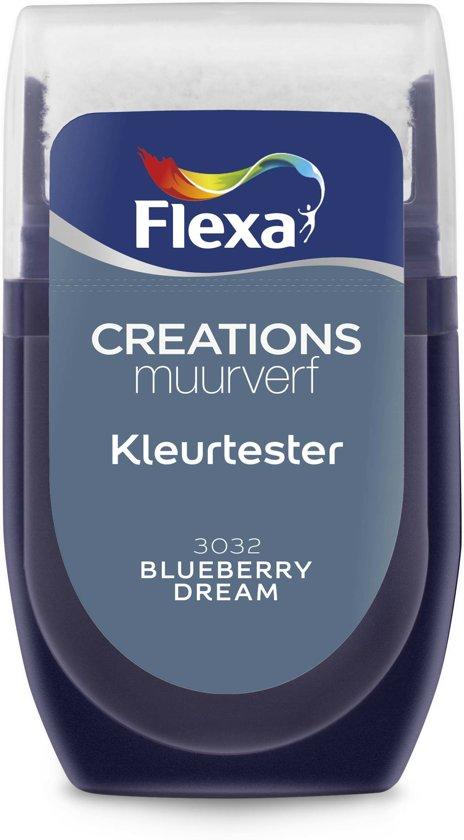 Flexa Blueberry Dream.Flexa Creations Muurverf Tester 3032 Blueberry Dream 30ml