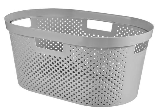 Curver Infinity Dots Wasmand - 39 l - Zilver