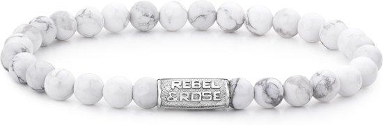Rebel&Rose armband - Virgin White - 6mm