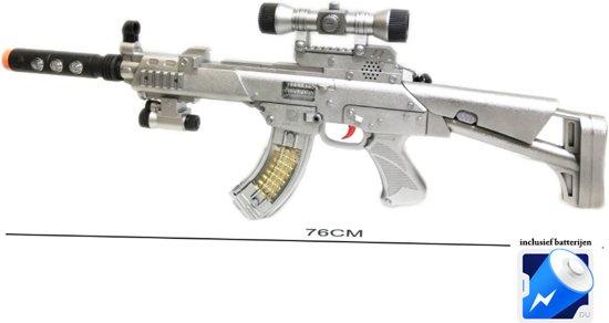 Flash Gun speelgoed Geweer 76cm met schietgeluid & Led Light -Pistool combat
