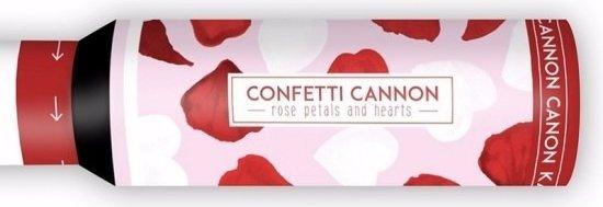 3x Confetti kanon hartjes en rozenblaadjes - confetti shooter / party popper