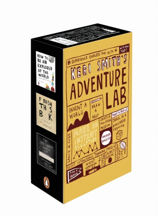 Boek cover Wreck This Journal, This Is Not a Book, Mess, and The Pocket Scavenger boxset van Keri Smith (Onbekend)
