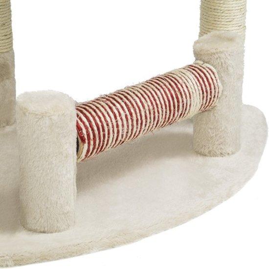 TecTake kattenkrabpaal - Mitzi - 90 cm hoog - beige - 402085