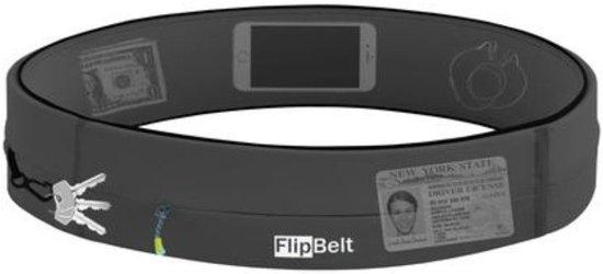 Flipbelt - Zipper - Running belt - Hardloop belt - Hardloop riem - Carbon - L