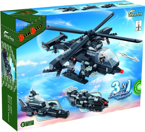 BanBao Defence Force Helicopter - 8488