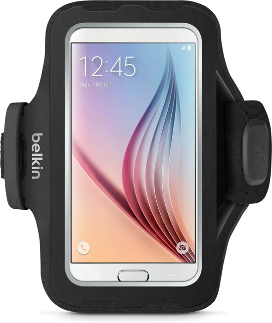 Belkin Slim-Fit Plus Sportarmband voor Samsung Galaxy S7 - Zwart in Klooster