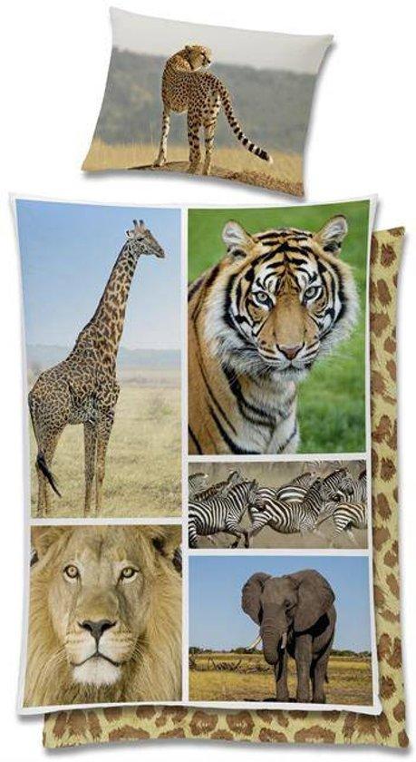 Wild Life dekbedovertrek Multi 1-persoons (140x200 cm + 1 sloop) (tiger)