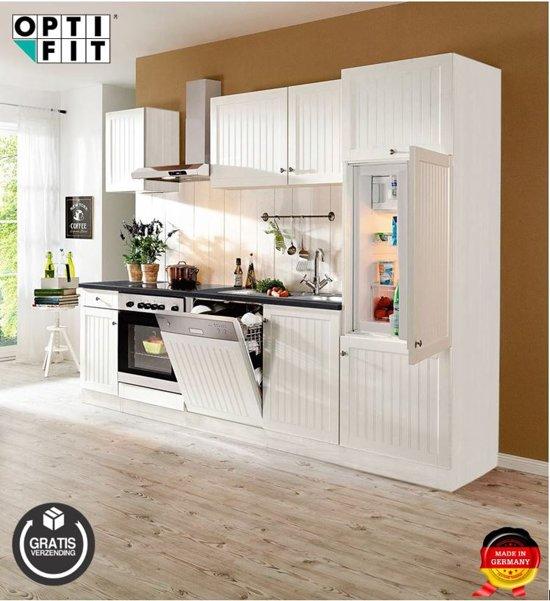 Optifit® rechte keuken 'Glasgow' compleet incl. apparatuur