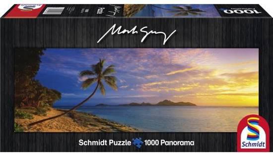 Schmidt Puzzel - Tokoriki Island zon's ondergang - Panorama - 1000 Stukjes