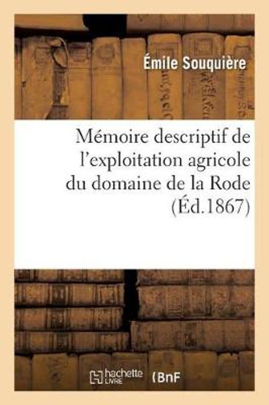 M moire descriptif de l'exploitation agricole du domaine de la Rode