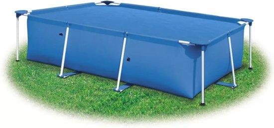 vidaXL Zwembadzeil rechthoekig 549 x 274 cm PE blauw