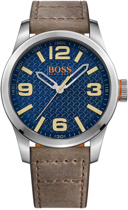 Hugo Boss Orange HO1513352 Horloge - Leer - Bruin - 47 mm