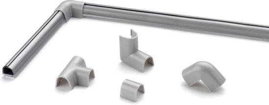 Cablefix 2201 zilver grijs Hoek en verleng stukken