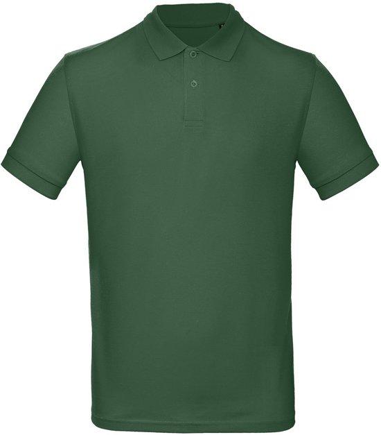 Senvi Classic Fit Polo Biologisch Katoen - Kleur D Groen- Maat S