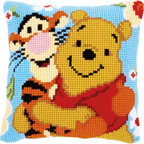 New bol.com | Borduurpakket Kussen Winnie the Pooh 40 x 40 cm, Vervaco @UU01