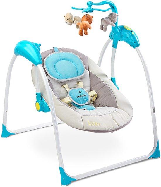 Baby Schommelstoel Automatisch.Elektrische Babyschommel Schommelstoel Caretero Loop Blauw