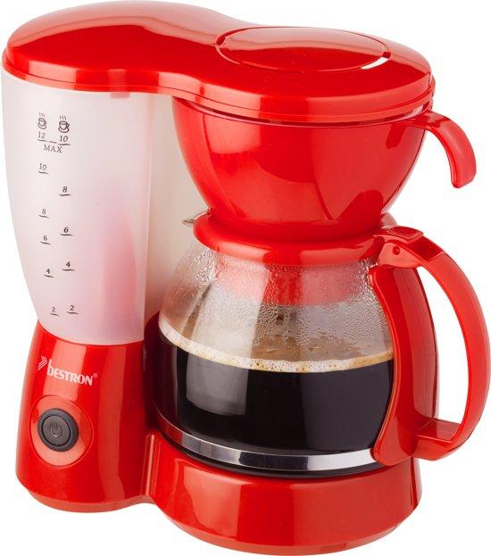 Bestron Koffiezetapparaat rood 800 W ACM6081R