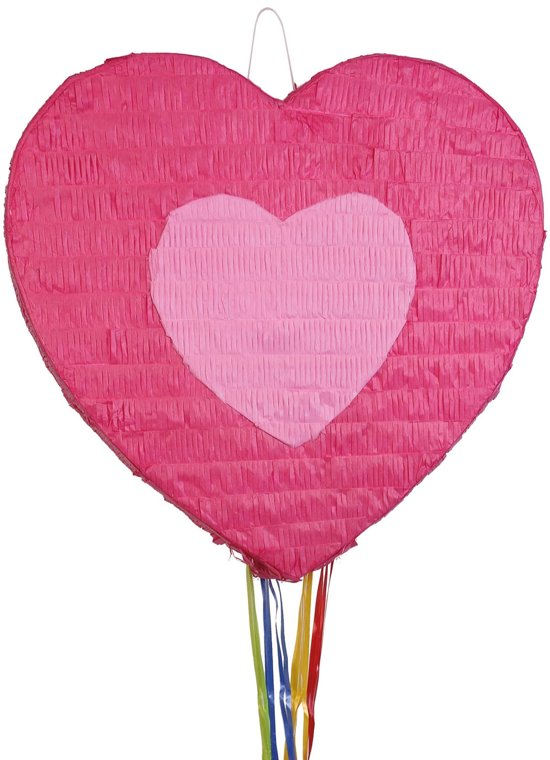 Pinata hart roze (trek pinata) Valentinaa