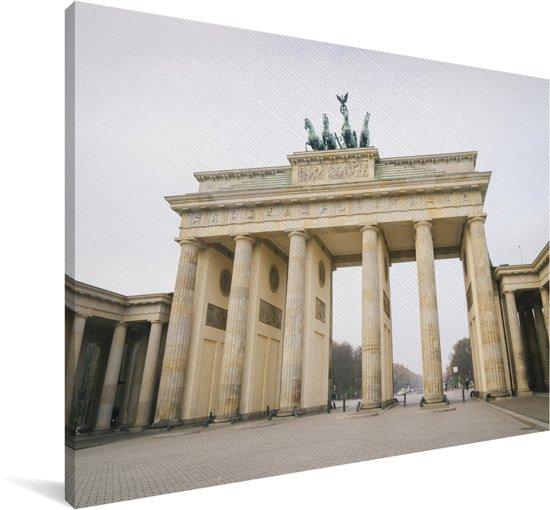 De eeuwenoude Brandenburger Tor in het Europese Berlijn Canvas 180x120 cm - Foto print op Canvas schilderij (Wanddecoratie woonkamer / slaapkamer) XXL / Groot formaat!