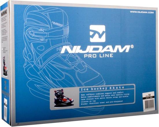 Nijdam Pro-line IJshockeyschaats Pro-Line - Semi-Softboot - Zwart/Grijs/Rood - 46