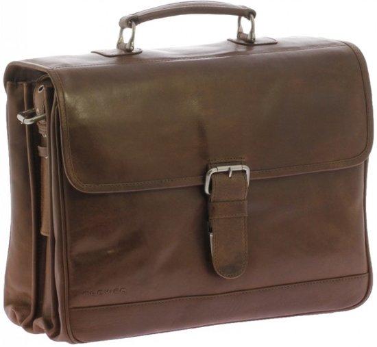 f6f903c4c59 bol.com | Plevier Business laptoptas Cognac 3-vaks Volnerf leer 15,6 ...