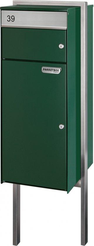 Post- pakketbrievenbus vrijstaand model (Groen) met grondplaat