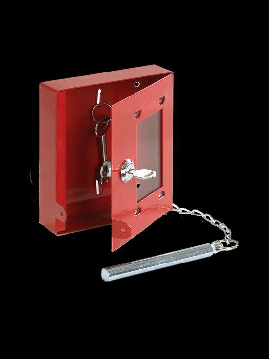 De Raat sleutelkast  nr.4 met glas en slagpen