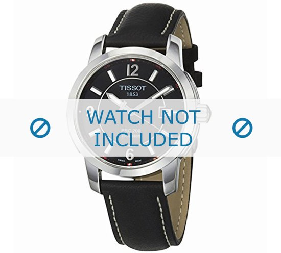 Horlogeband Tissot T600025440 / T610025414 Leder Zwart 19mm