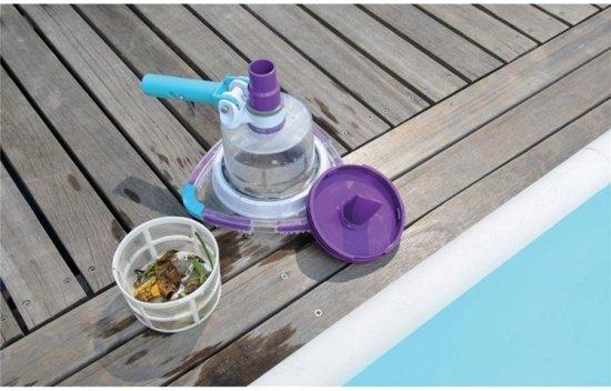 Zwembadstofzuiger V-trap inclusief telescoopsteel en slang