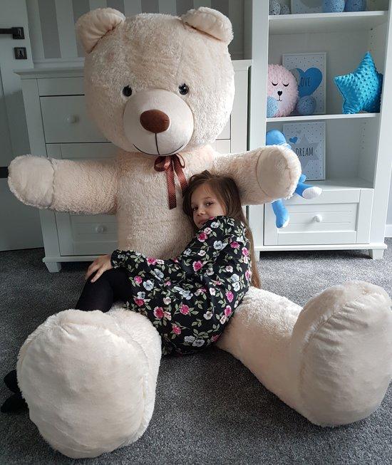 Grote Knuffelbeer 2 Meter.Grote Knuffelbeer 2 Meter Creme 205 Cm Xxl