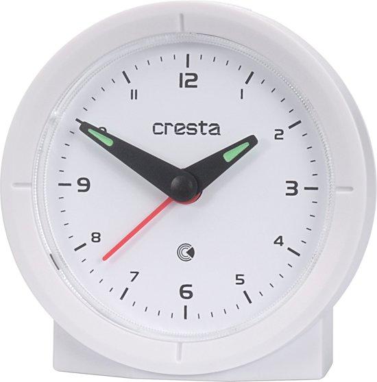 Cresta Analoge Zendergestuurde design quartz Wekker BAA330 Wit