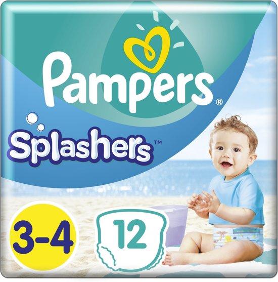 Pampers Splashers 12 Wegwerpbare Zwemluiers - Maat 3-4