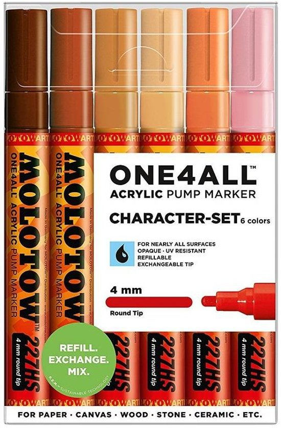 Molotow ONE4ALL™ 4mm 227HS Marker Character-Set