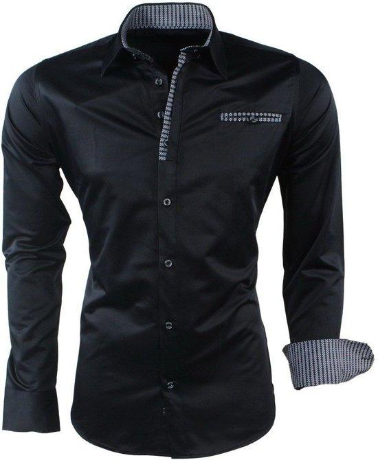 Overhemd Zwart Heren.Bol Com Ferlucci Heren Overhemd Milano Zwart