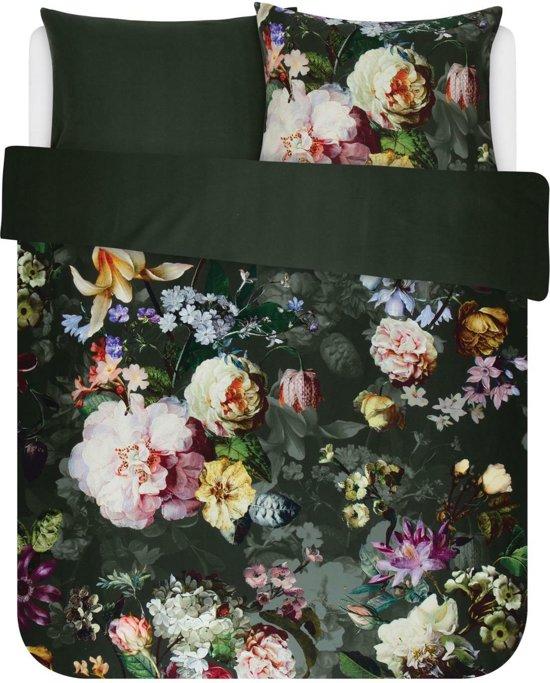 Essenza Fleur - Dekbedovertrek - Lits-jumeaux - 240x200/220 cm + 2 kussenslopen 60x70 cm - Green