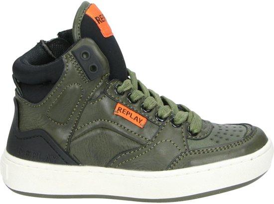 Replay Bokkai jongens sneaker - Khaki - Maat 29