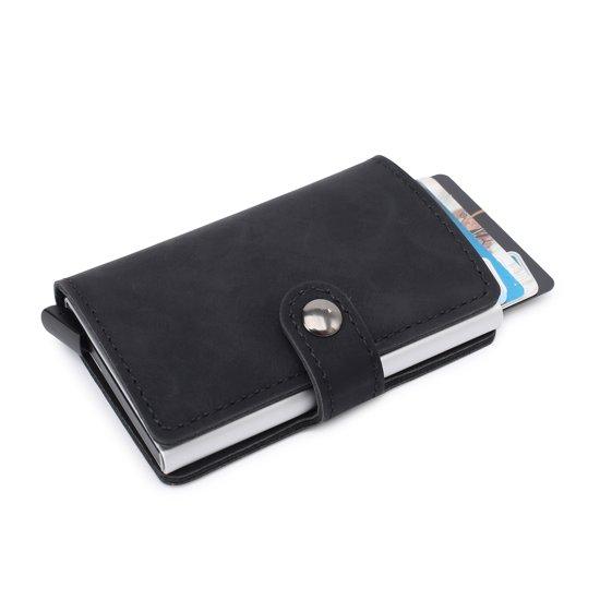 f28249bcd0e Marketfy ® - Pasjeshouder - Creditcard Houder - RFID - Zwart - 100% PU LEDER