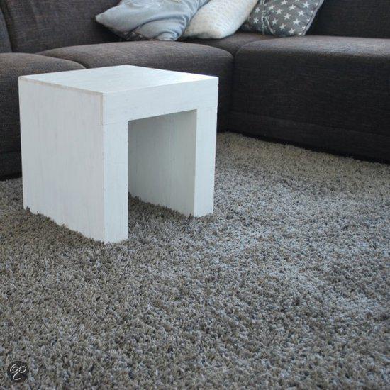 Hoogpolig vloerkleed grijs taupe shaggy 160 x 240 cm - Taupe en grijs ...