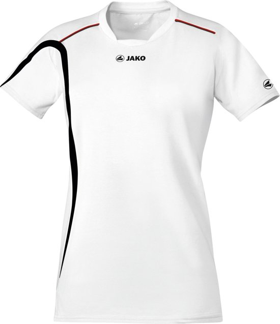 Jako Indoorshirt Match Dames - Sportshirt -  Dames - Maat M - L - Wit