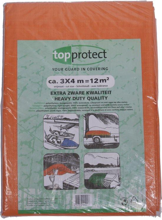 Oranje afdekzeil 3x4m 150gr/m²