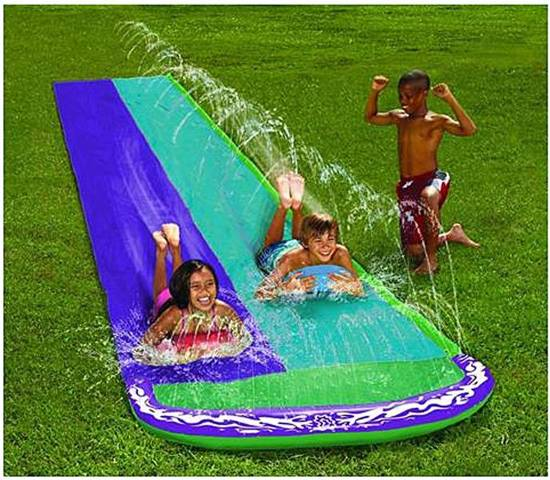 Splash Dubbele waterglijbaan 482x145cm