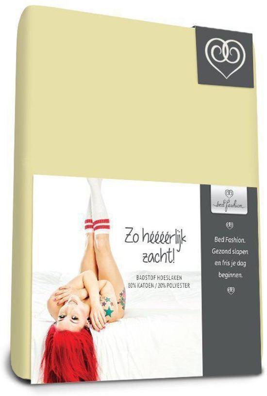 Badstof stretch hoeslaken  Vanille - 160 x 200 cm - Vanille
