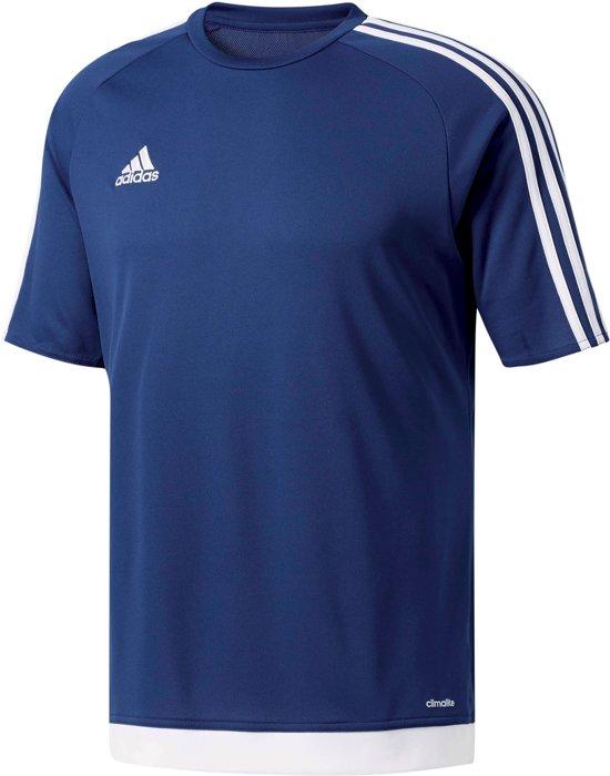 adidas Estro 15 Jersey - Sportshirt - Kinderen - Maat 152 - Navy/ Wit